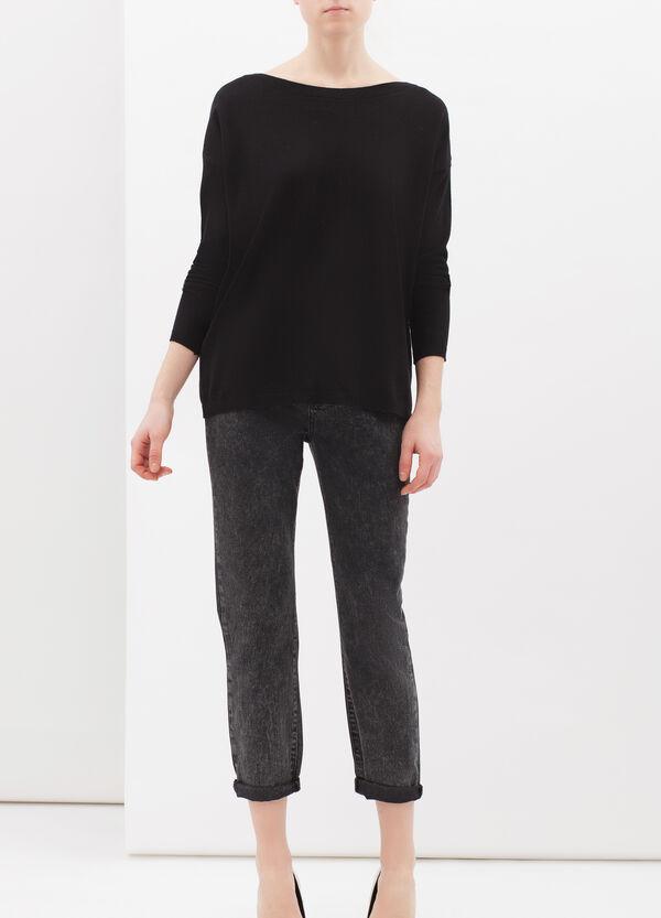 Silk-cashmere blend pullover. | OVS