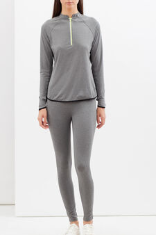 Long-sleeved sports T-shirt, Light Grey, hi-res