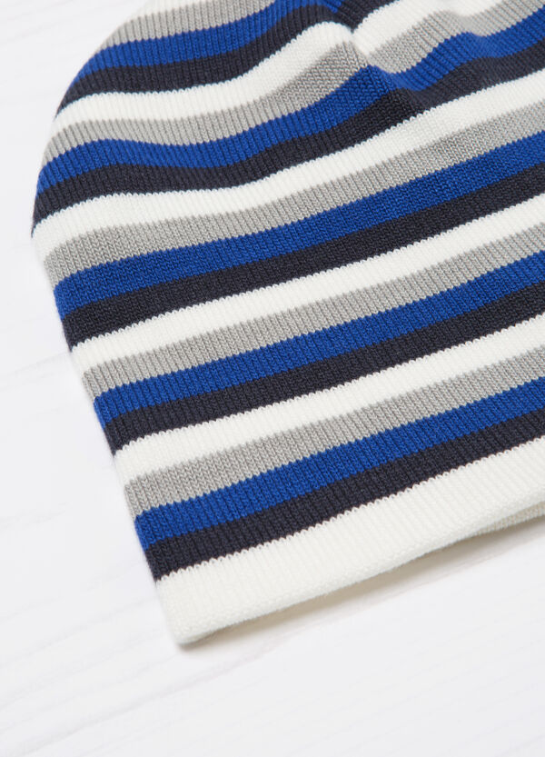 Striped knitted beanie cap | OVS