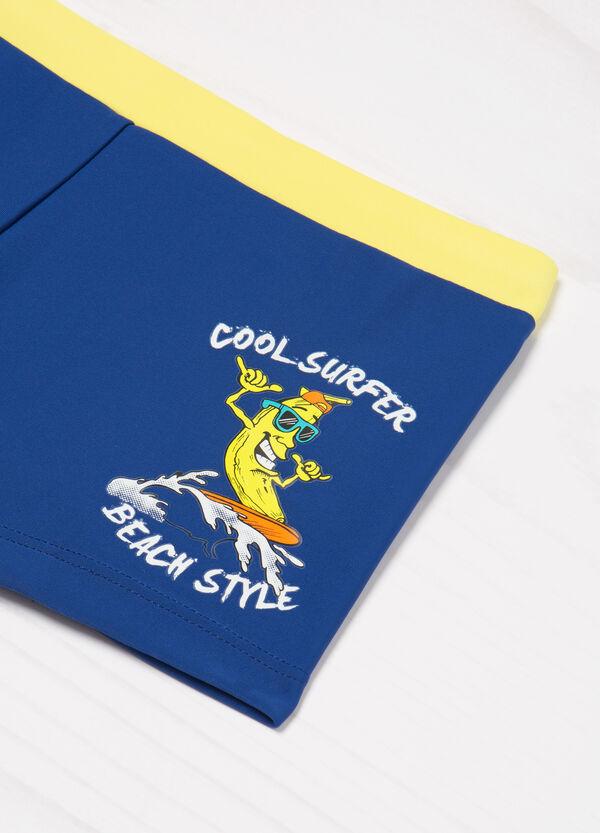 Stretch printed swim boxer shorts   OVS