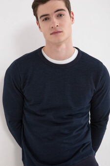 100% cotton crew neck sweatshirt., Blue, hi-res