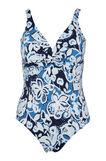 Costume intero stretch Curvy, Blu, hi-res