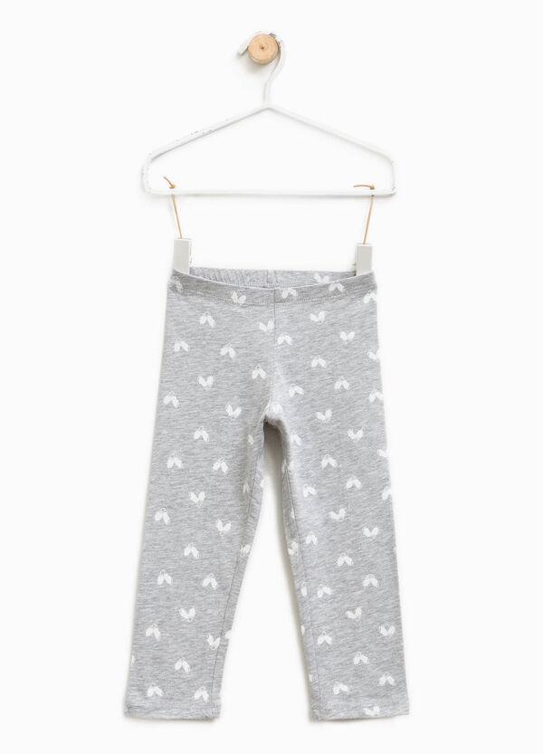 Leggings en algodón elástico con fantasía | OVS