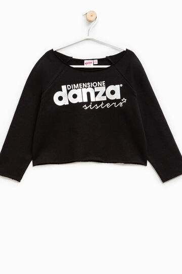 Dimensione Danza sweatshirt with lettering print, Black, hi-res