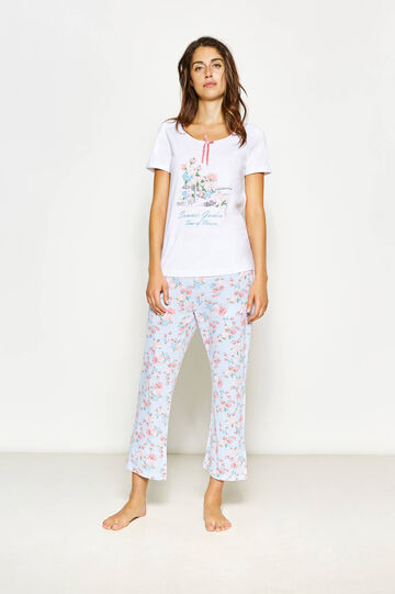 Floral top and trousers pyjama set