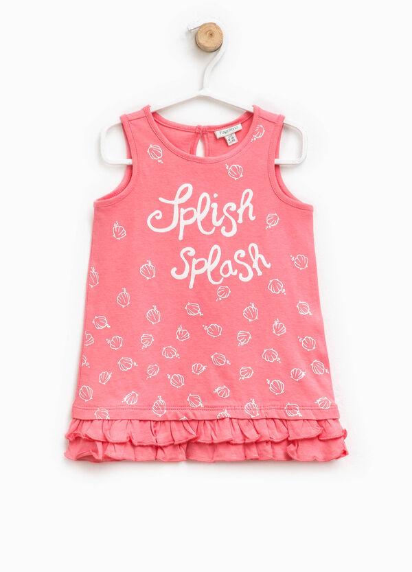 Dress with print and flounces | OVS