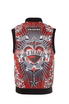 Gilet bomber Jean Paul Gaultier for OVS, Nero, hi-res