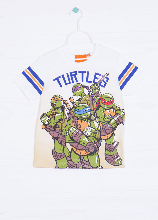 Teenage Mutant Ninja Turtle print T-shirt in 100% cotton | OVS