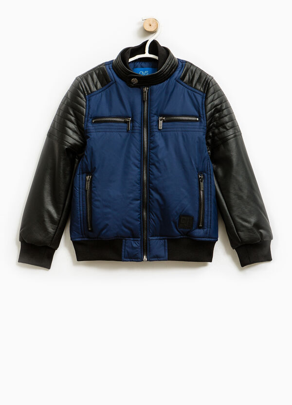 Jacket with stitching and high neck | OVS