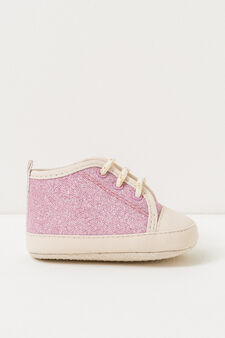 Shoes with laces and glitter, Pink, hi-res