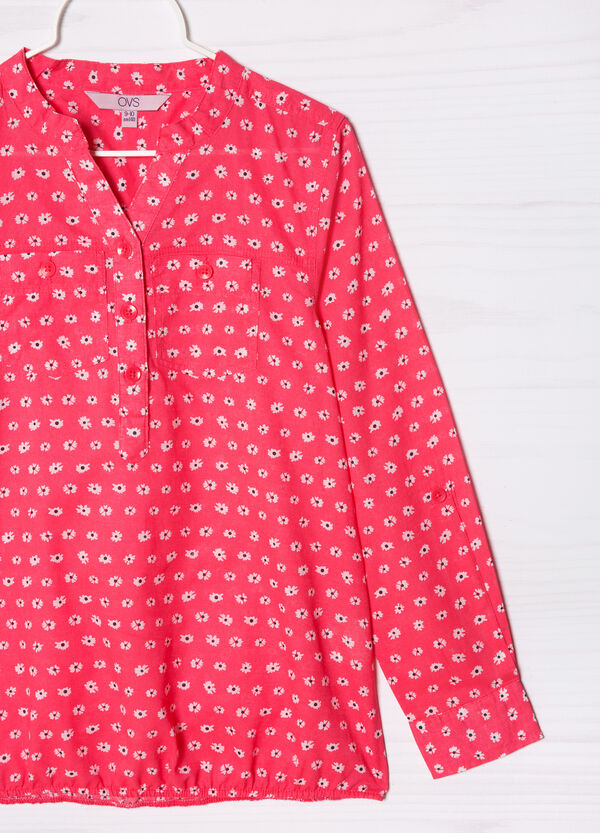 Camicia stampata in puro cotone | OVS