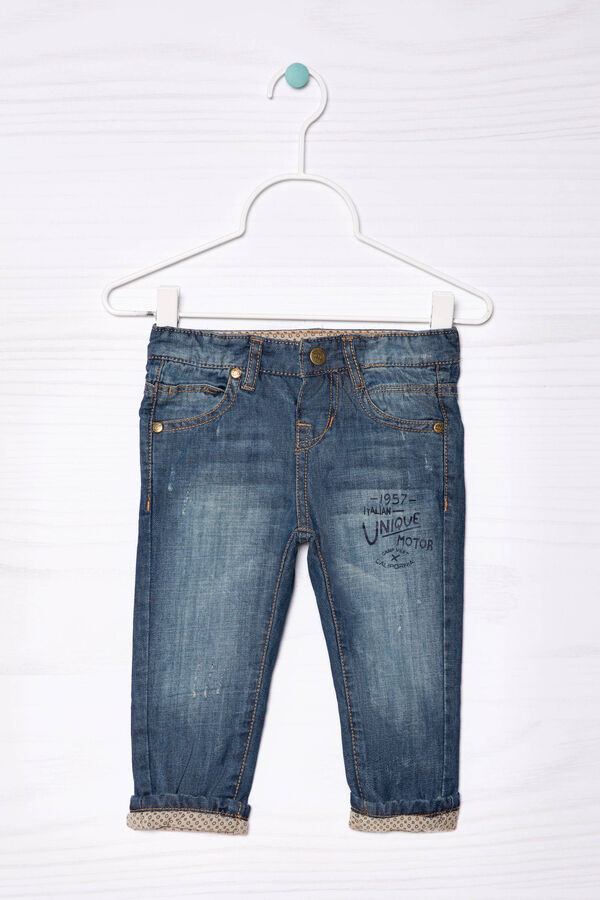 Jeans with printed lettering | OVS