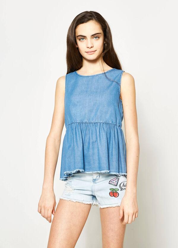 Blusa smanicata di jeans Teen | OVS