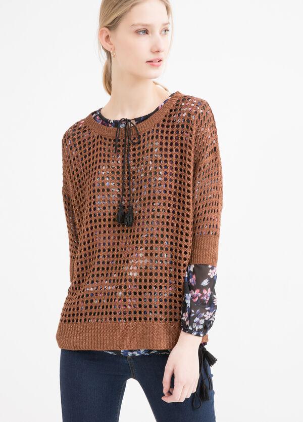 Viscose blend openwork pullover | OVS