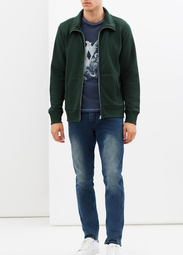 Sweatshirt with high neck and lapels | OVS