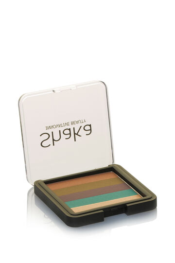 Eyeshadow palette in five shades, Sage Green, hi-res