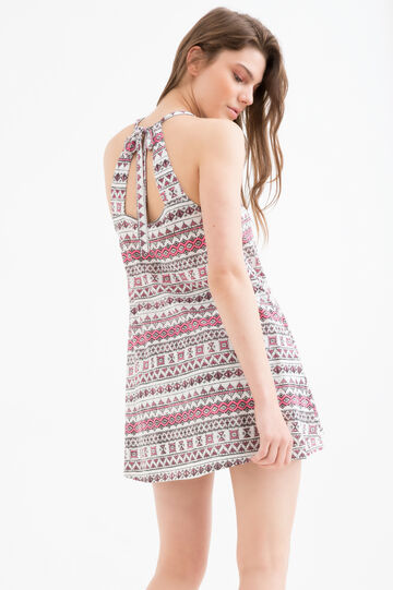 Dress with all-over Maui and Sons print, White, hi-res