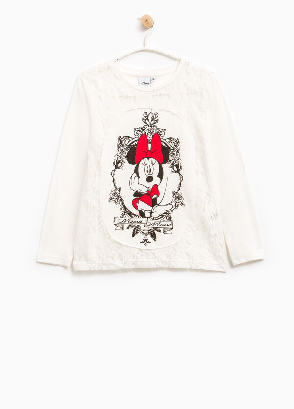 T-shirt con pizzo stampa Minnie | OVS