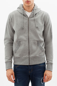 G&H sweatshirt with print on back, Concrete Grey, hi-res