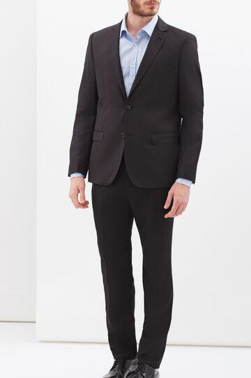 Pantaloni eleganti misto viscosa, Nero, hi-res