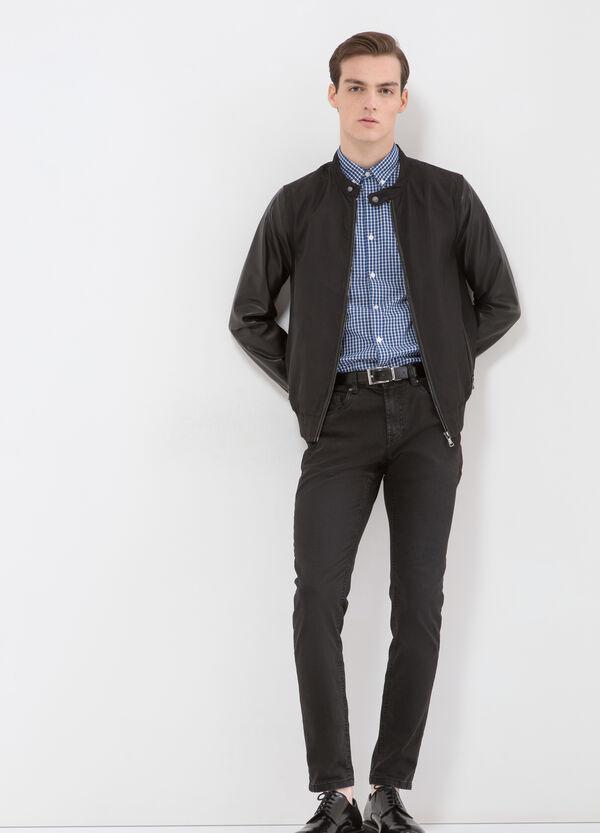 Cotton blend check shirt | OVS