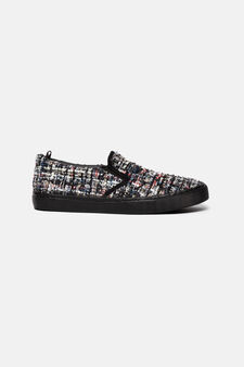 Sneakers slip-on in tela, Multicolor, hi-res