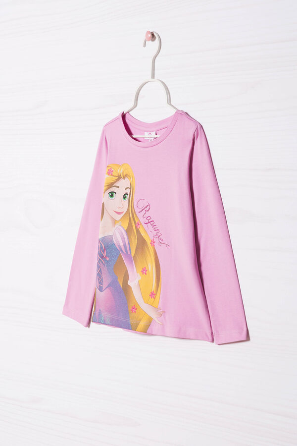 T-shirt stretch stampa Rapunzel | OVS