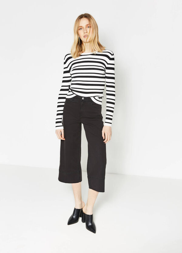 Gaucho model cotton trousers | OVS