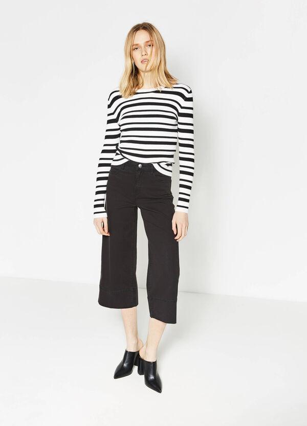 Pantaloni modello gaucho in cotone | OVS