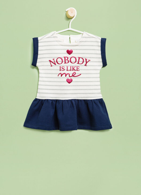 Striped dress with lettering print | OVS