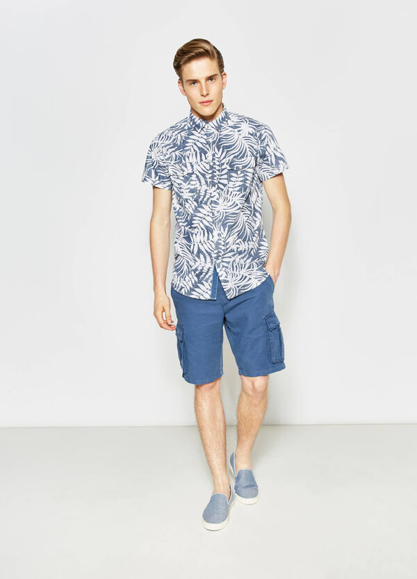 G&H floral poplin casual shirt | OVS