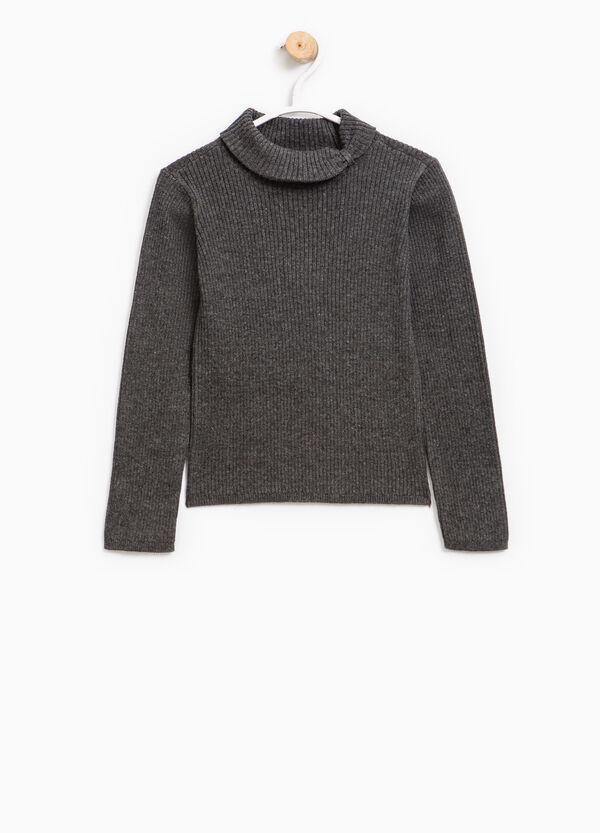 Pullover a costina collo alto | OVS