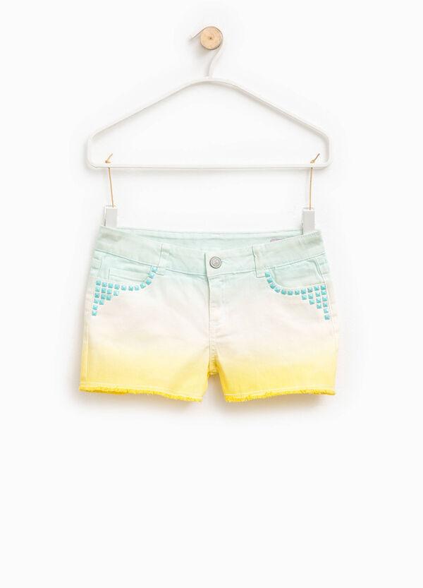 Shorts in cotone degradé con borchie | OVS