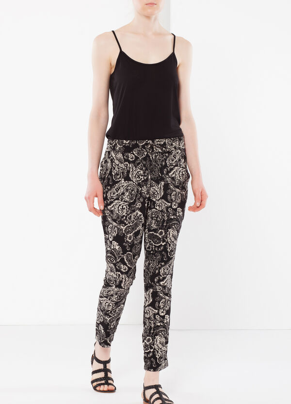 Paisley print trousers | OVS