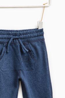 Pantaloni tuta con tasca a marsupio, Blu avio, hi-res