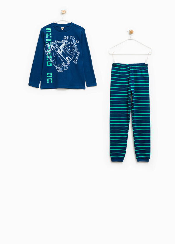 Pyjamas with robot print and striped pattern | OVS