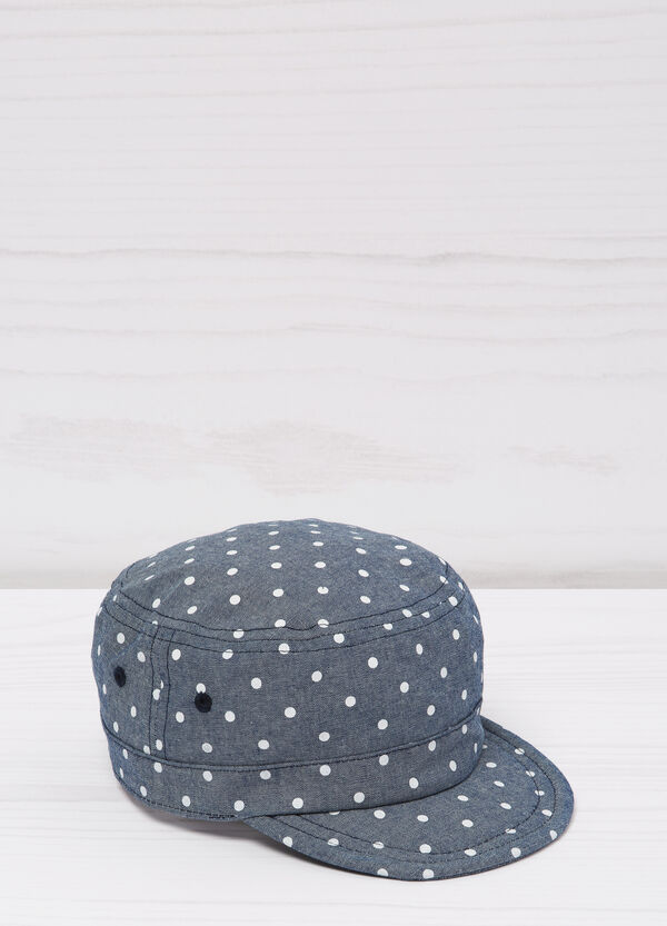 Polka dot cotton baseball cap | OVS
