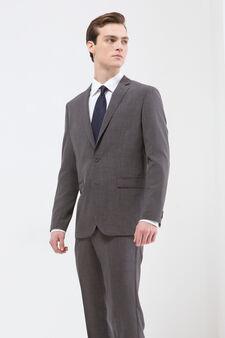 Elegant suit with regular fit, Grey, hi-res