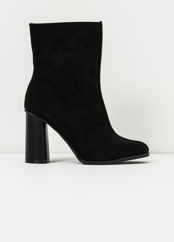 Suede look ankle boots with side zip | OVS