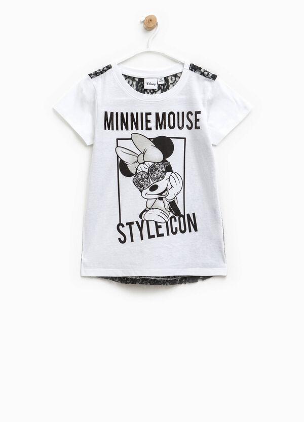 T-shirt bicolore Minnie e pizzo | OVS