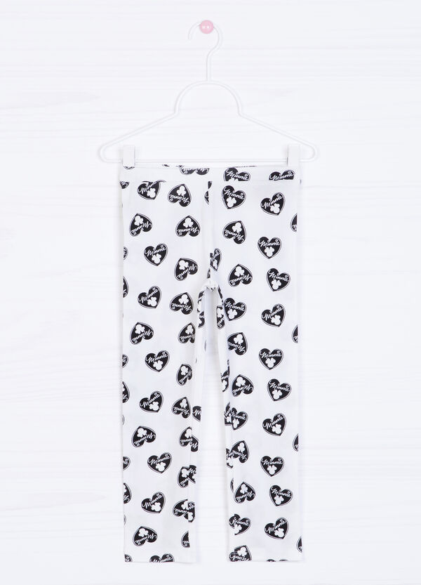 Stretch trousers with Minnie Mouse print. | OVS