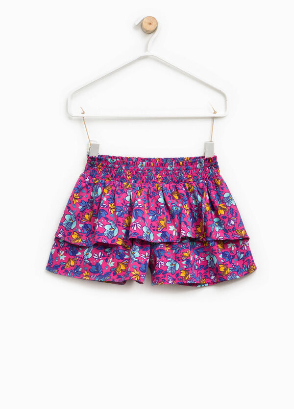 Patterned shorts with flounces | OVS