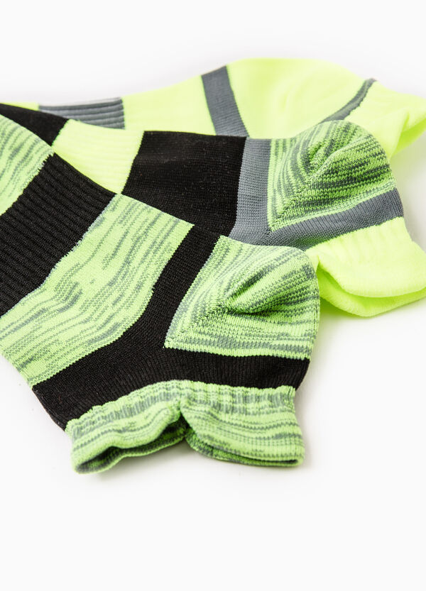 Three-pair pack striped OVS Active Sport Training socks | OVS