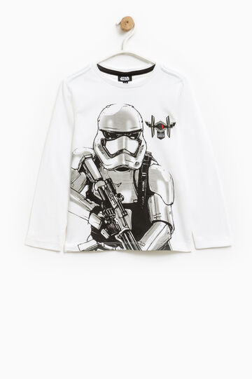 Cotton T-shirt with Star Wars print, Off-white, hi-res