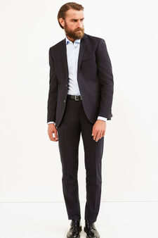 Elegant custom-fit striped suit, Black, hi-res