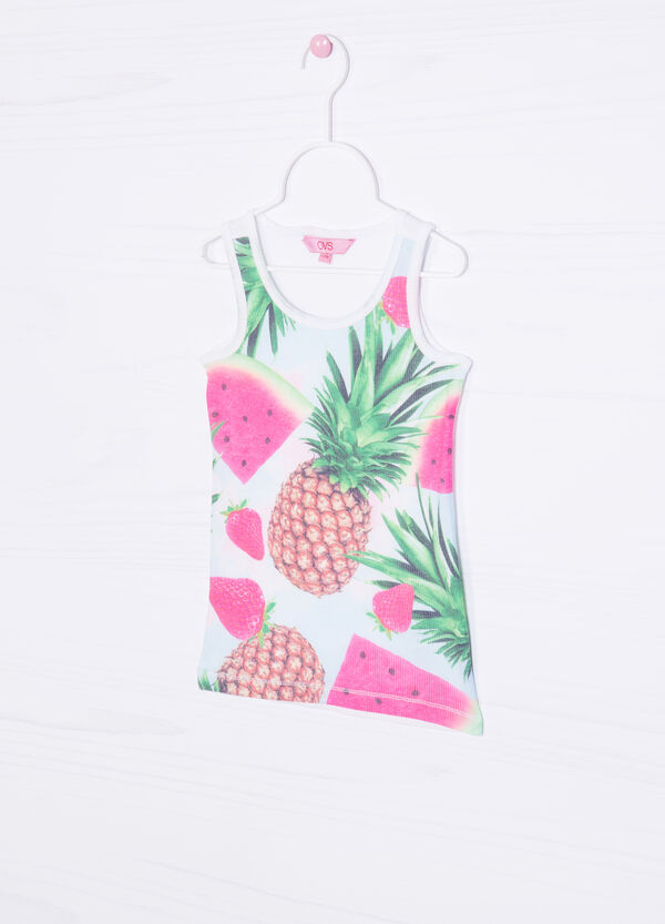 Vest top with maxi print on the front | OVS