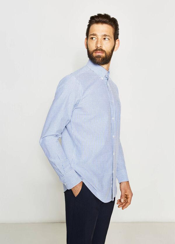 Camisa formal regular fit de rayas en tejido de algodón | OVS