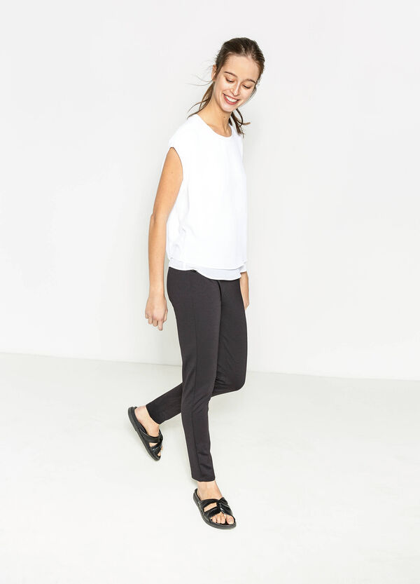 Stretch leggings with pockets | OVS