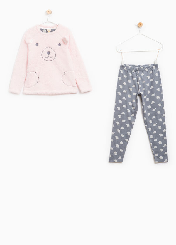 Patterned pyjamas with ears and embroidery | OVS