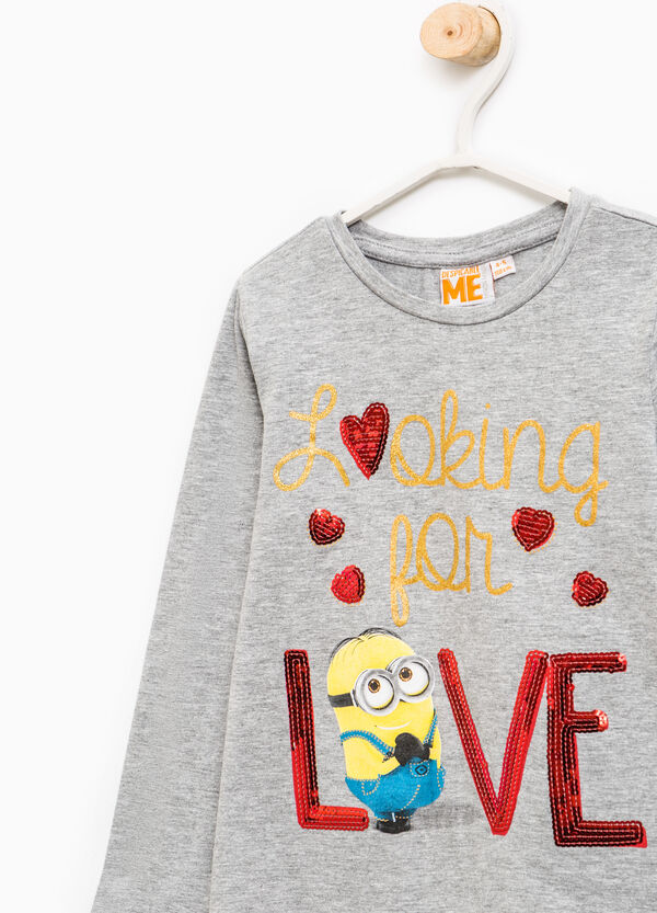 Minions print T-shirt with sequins | OVS